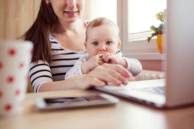 Поиск работы для молодой мамы