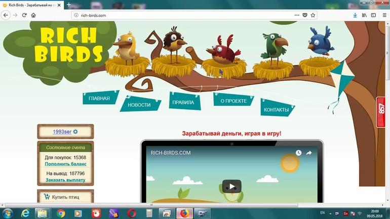 Описание онлайн-фермы Golden Birds